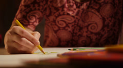 Drawing by color pencils Stock Footage