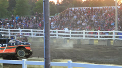 Figure 8 Demolition Derby  3 of 3 Stock Footage