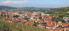 panoramic view on alba, italy. - stock photo