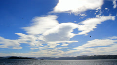Clouds over the sea - stock footage