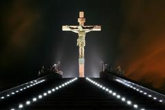 Statue of the crucifixion Stock Photos