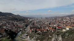 Sarajevo panorama Stock Footage