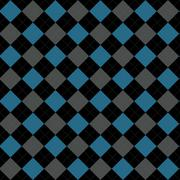 Black, blue and gray argyle pattern repeat background Stock Illustration