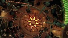 Colorful cruise ship lobby atrium dance floor HD 1837 Stock Footage
