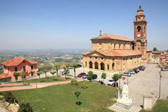 Stock Photo of old church of diano d'alba, italy.