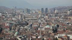 Sarajevo buildings Stock Footage