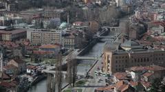 Sarajevo bridges Stock Footage