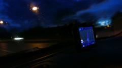Sat Nav at night timelapse Stock Footage