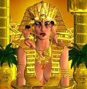 Face Of The Pharaoh Queen Stock Illustration