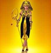 A powerful Egyptian woman. - stock illustration