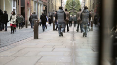 Street in covent garden with shops Stock Footage