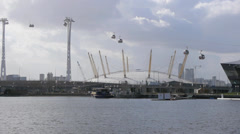 The millennium dome in London Stock Footage