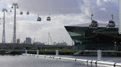 Emirates Air Line in London Stock Footage