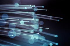 Luminosity, fiber optic cables, fibre connection, telecomunications concept. Stock Photos