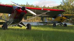 Airplanes Startup Stock Footage