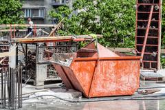 Stock Photo of container with rubble