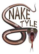 snake style - stock illustration