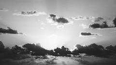 Sunrise sky black and white Stock Photos