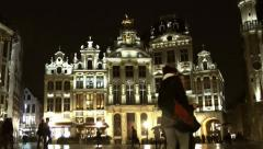 The Grand Place Market Square Stock Footage