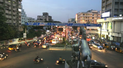 Rush hour traffic commuters Chennai, Tamil Nadu, India Stock Footage