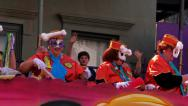 Stock Video Footage of Throwing Beads from a Mardi Gras Parade Float 4093