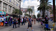 Stock Video Footage of People Watching a Mardi Gras Parade on Canal Street 4107