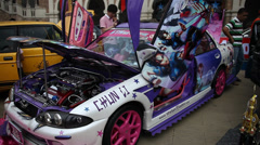 Stock Video Footage of people enjoying auto expo at Malaysia