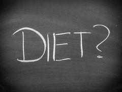 diet question or choice - stock photo