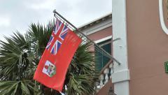 Bermuda Flag Stock Footage