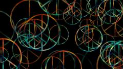 Peace and Love symbol background with alpha Stock Footage