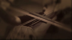 Double Bass Stringed Orchestra Musical Instrument (Loop) Stock Footage