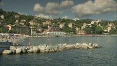 Sea and coast of Monterosso, Italy Stock Footage