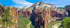 Zion Canyon Panorama Stock Photos