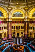 The main reading room, in the library of congress, washington, dc. Stock Photos