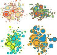 Bubble cloud - stock illustration