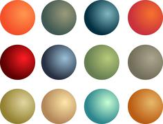 3d balls - stock illustration