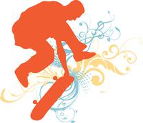 Skateboarder Stock Illustration
