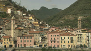 Stock Video Footage of City and hills along the Riviera