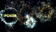 POKER Text in Particles Stock Footage