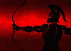 Ancient Archer Stock Illustration