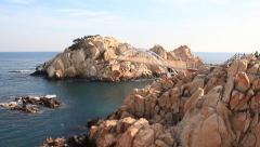 Seaside and Rock Island Stock Footage