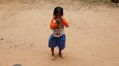 Girl, Cambodia. Stock Footage