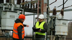 Electrical Engineer in the electric substation episode 7 Stock Footage