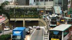 Asia China Hong Kong Central district Traffic Jam congestion Stock Footage