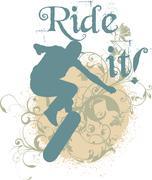 Ride it - stock illustration