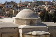 Stock Photo of view on the landmarks of jerusalem old city .