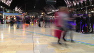 Stock Video Footage of Paddington station concourse time lapse