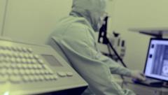 Stock video footage Scientific Industrial building scientific work Stock Footage