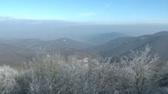 Winter Forest Hills Landscape 1 Stock Footage