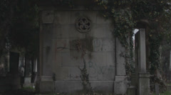 Old haunted cemetery [shrine] Stock Footage